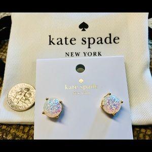 "NWT Kate Spade ""Opal Glitter""Stud Earrings"